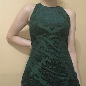 macy's elegant emerald green mini dress
